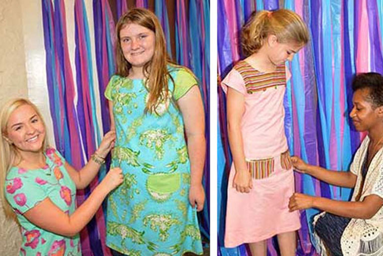 Students design dresses for 4-H members