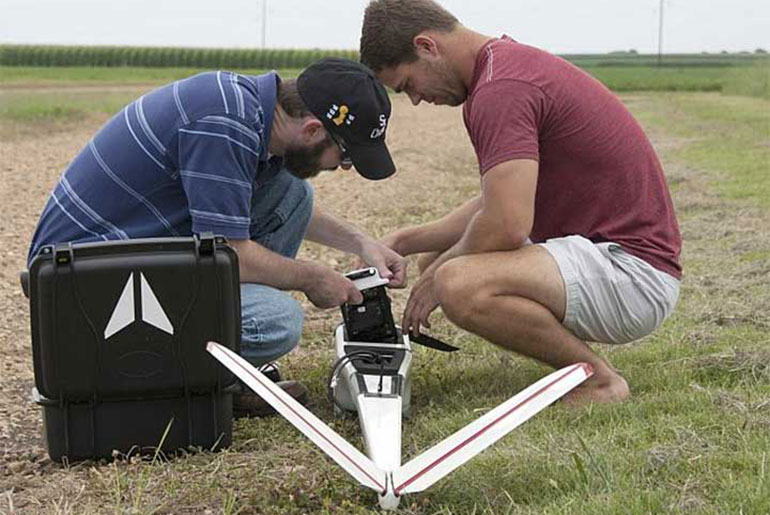 Students prepare drone for flight