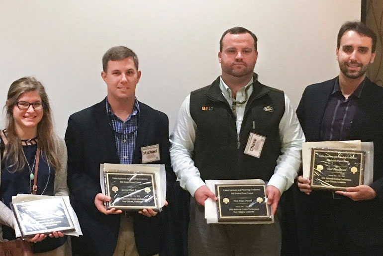 MSU students and faculty honored at Beltwide Cotton Conference
