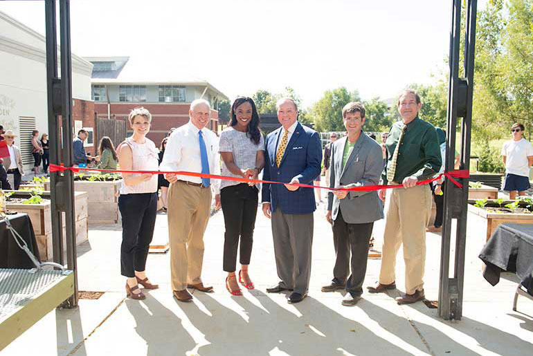 MSU officials cut ribbon on Community Garden