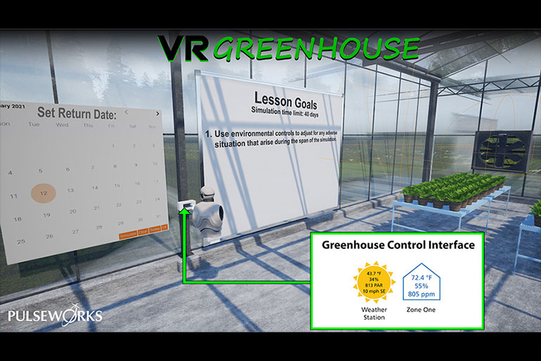 Prototype of virtual greenhouse in development.